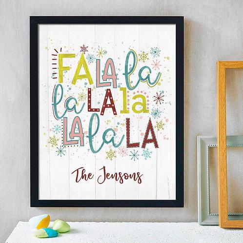 falala snow Christmas print