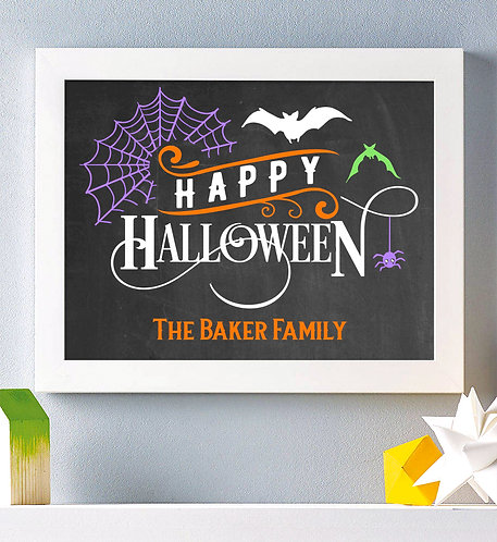 Happy Halloween chalkboard print