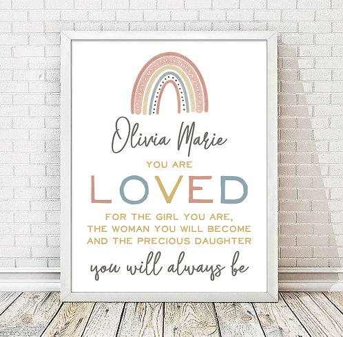 You are loved girl's bedroom decor