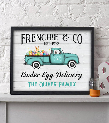 personalized easter rustic decor