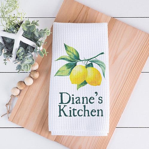 personalized lemon towel