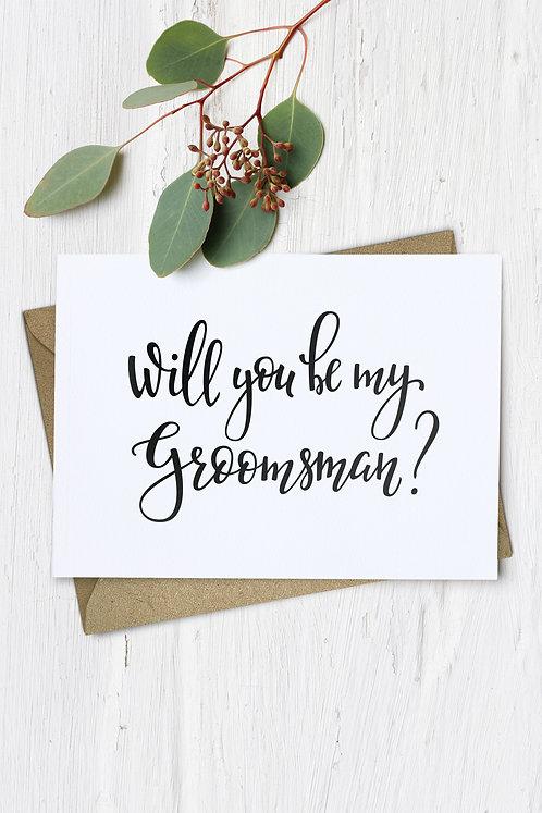 groomsman wedding card