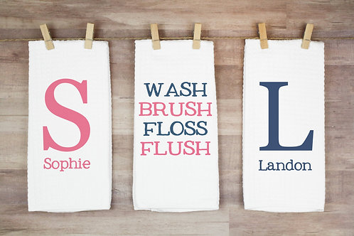 personalized shared bathroom towels