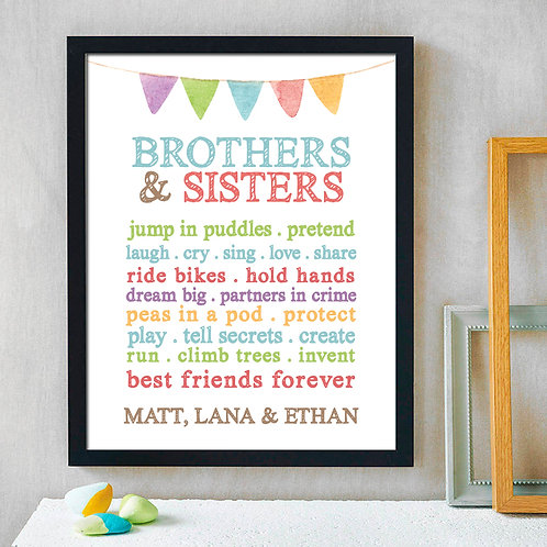 personalized brothers and sister collage