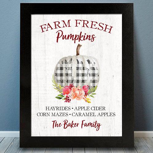 Farm Fresh Pumpkins, Fall decor for your home