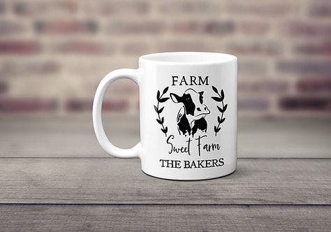 personalized farm sweet farm mug