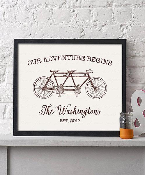Vintage Bike Wedding Sign