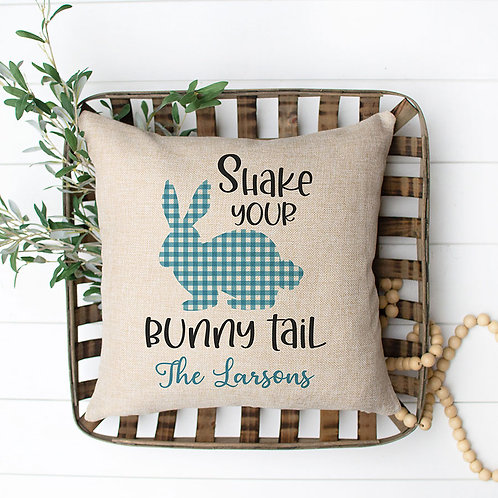 personalized shake your bunny tail pillow