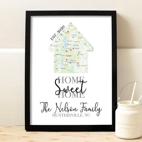 google map home print