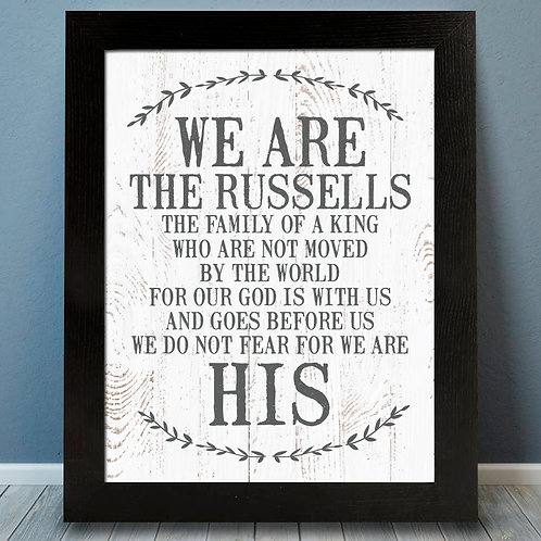 We are His Family Print