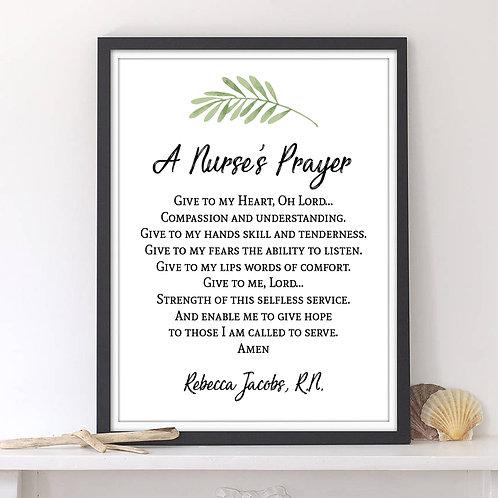 Nurse's Prayer Print