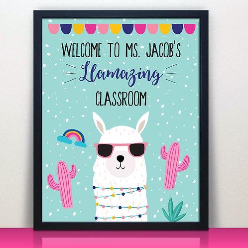 Llama Classroom Teacher Print