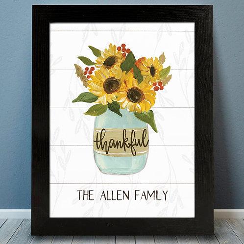 Sunflower Thankful Fall Print