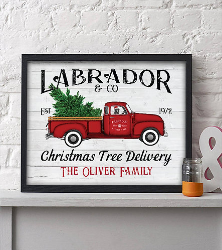 personalized christmas tree delivery print
