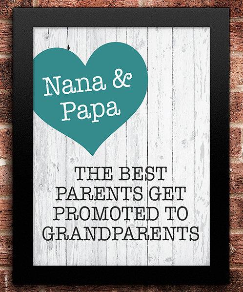 Grandparents Promotion Pregnancy Announcement