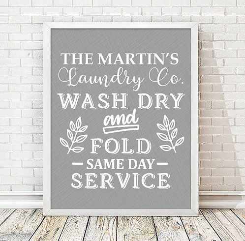 Personalized Laundry Room Print