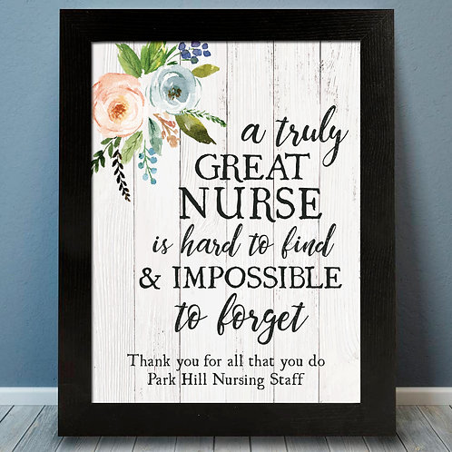 Nurse Thank You Print
