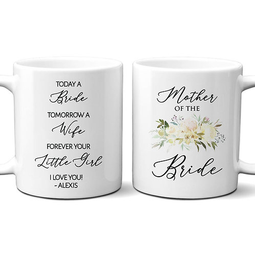 floral mother of the bride coffee mug