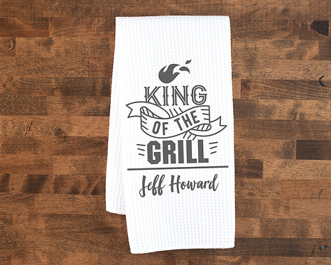Personalized Grilling Towel Perfect for Fathers