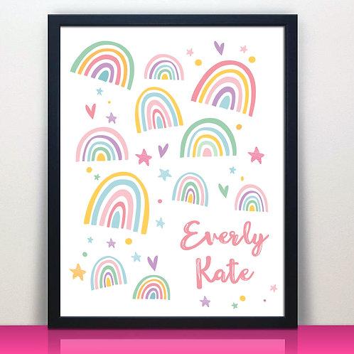 Personalized Rainbow Print