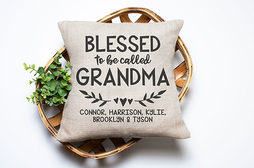blessed to be called grandma pillow