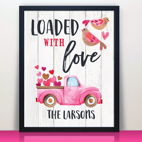 Valentines Day Love Truck Print