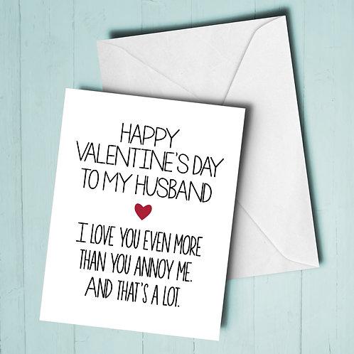 Valentines Day Husband Card