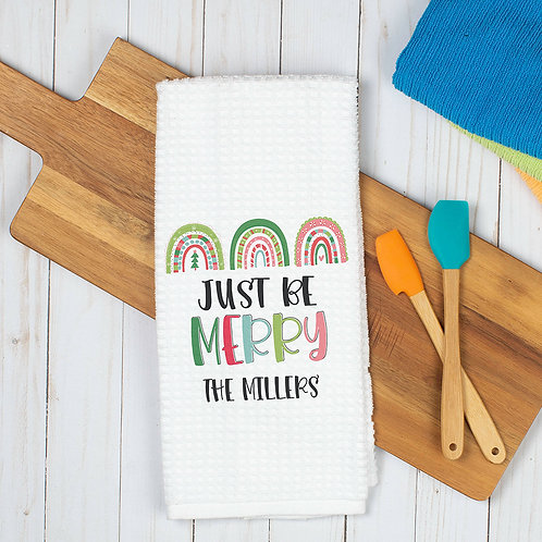 just be merry kitchen towel