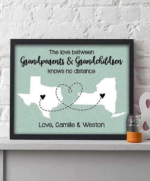 Two State Long Distance Grandparents Print