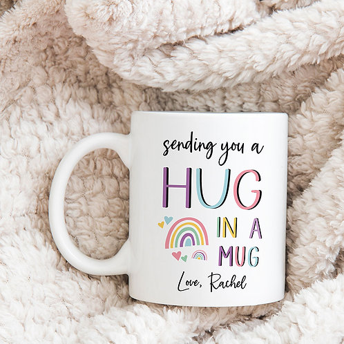 sending you a hug in a mug