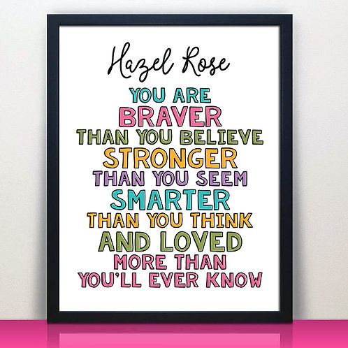 Personalized Loved More Than You'll Ever Know Print