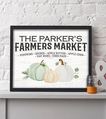 Personalized Farmers Market Fall Print