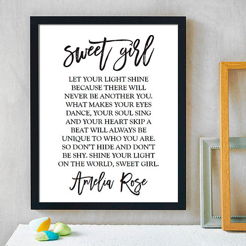 inspirational print for girls