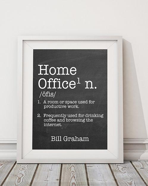 faux chalkboard home office print