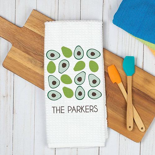 summer avocado dish towel