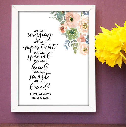 floral positive words for graduate