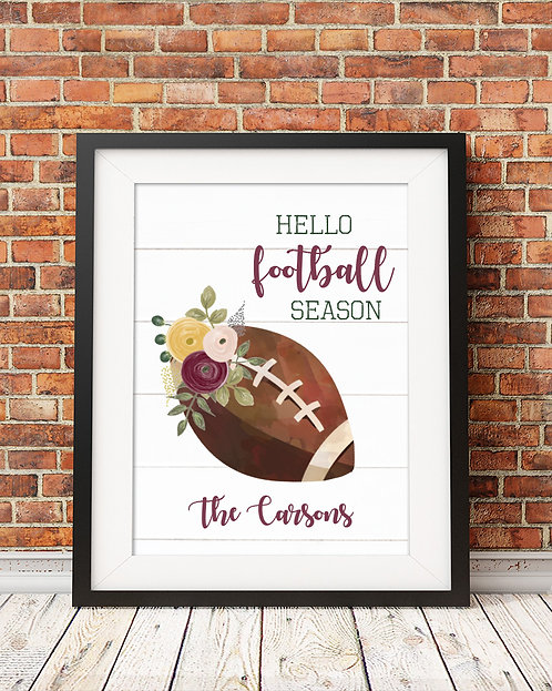 Hello Football, Fall Print