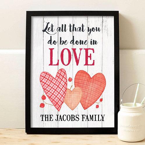 Love Valentines Day Heart Print