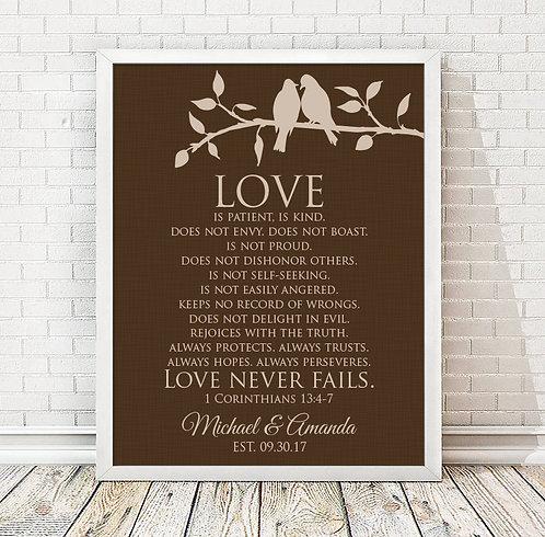 Corinthians Love Is Print