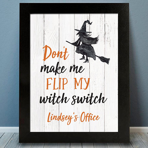 Witch Switch, Broom Flying Witch, Halloween Decor