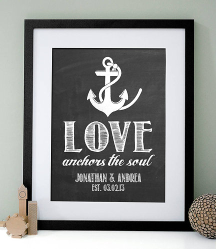 Love Anchors The Soul Anniversary Print