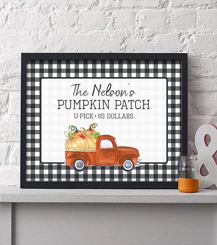 Family Pumpkin Patch Fall Decor