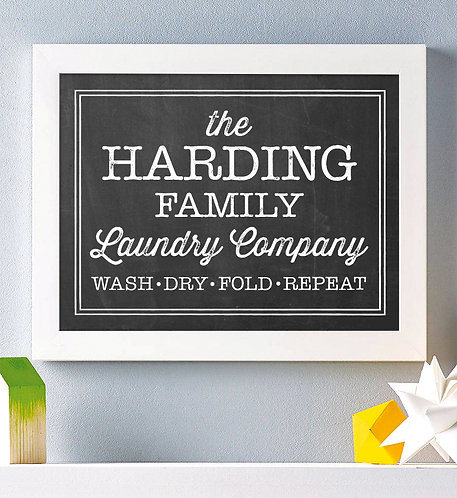 Laundry Room Print Personalized