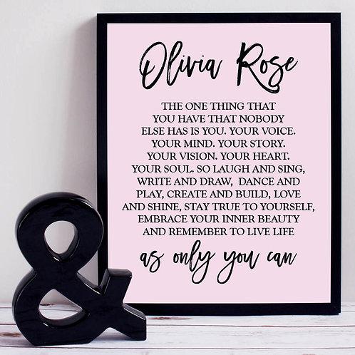 Soft Pink Motivational Print
