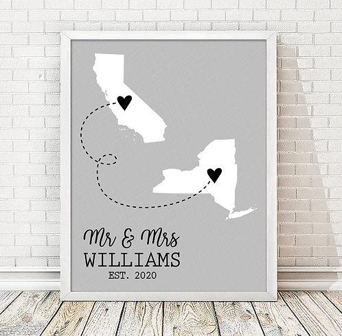 Two State Wedding Print