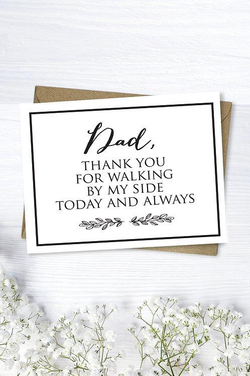 Dad Thank You Wedding Card