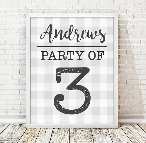 Party of Personalized Plaid Print