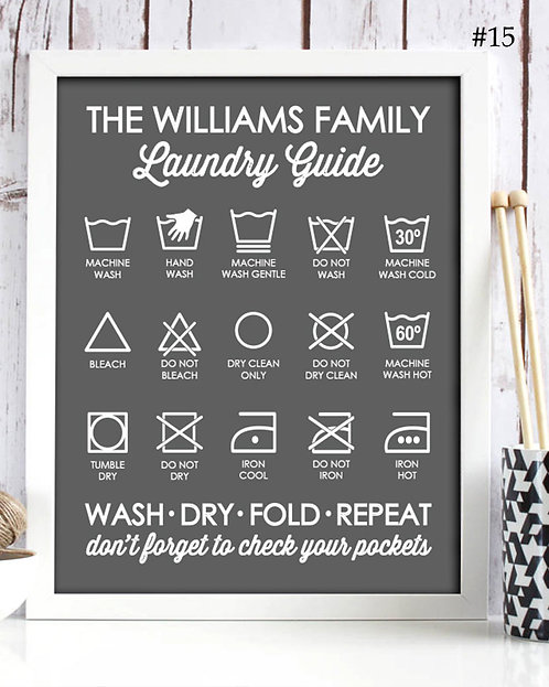 Laundry Guide Steps Print