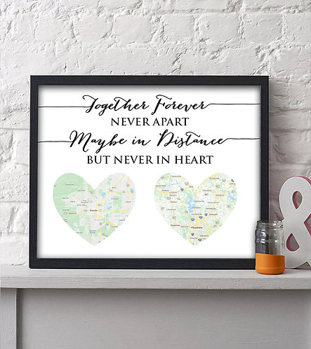 long distance map print