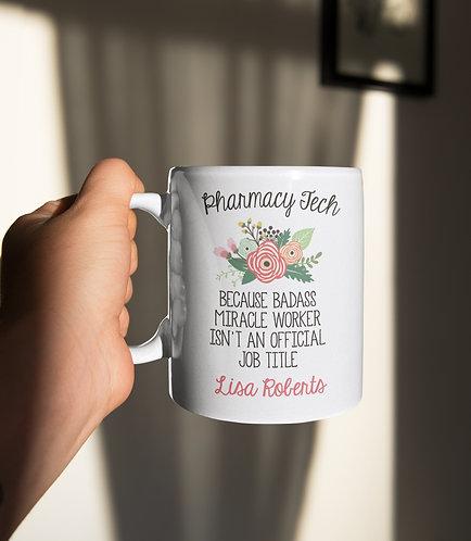 Personalized Pharmacy Tech Mug